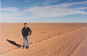On assignment in Oodnadatta. ... OK, near Oodnadatta, depp within the South Australian desert.