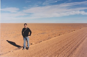 On assignment in Oodnadatta. ... OK, near Oodnadatta, depp within the South Australian desert.