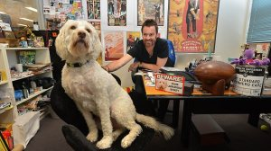 Fly Dog at work, in the Herald Sun.