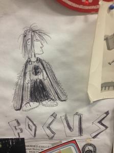 Portrait of super hero Focus, by reader, William, 13