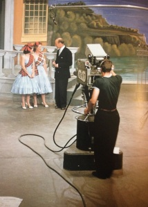 A scene from the early days of TV, from our book.