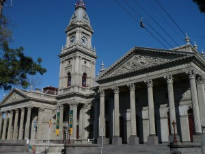 The magnificent Fitzroy town hall ...